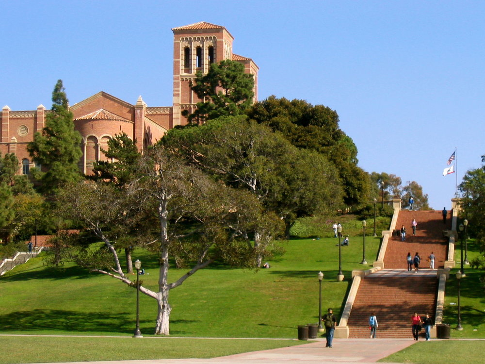 University of California, Los Angeles (UCLA) students on campus. Credit: Wikimedia