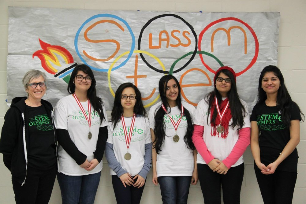 One of the winning teams during the closing ceremony of the STEM Olympics Credit: Vanie Chahal