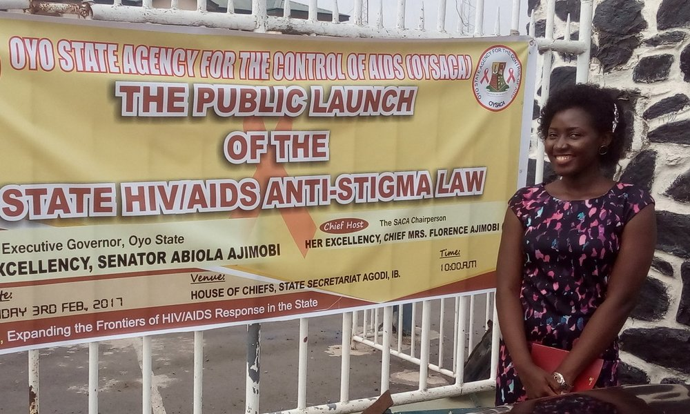 Adeola Raji at the launching of the state HIV/AIDS anti-stigma law