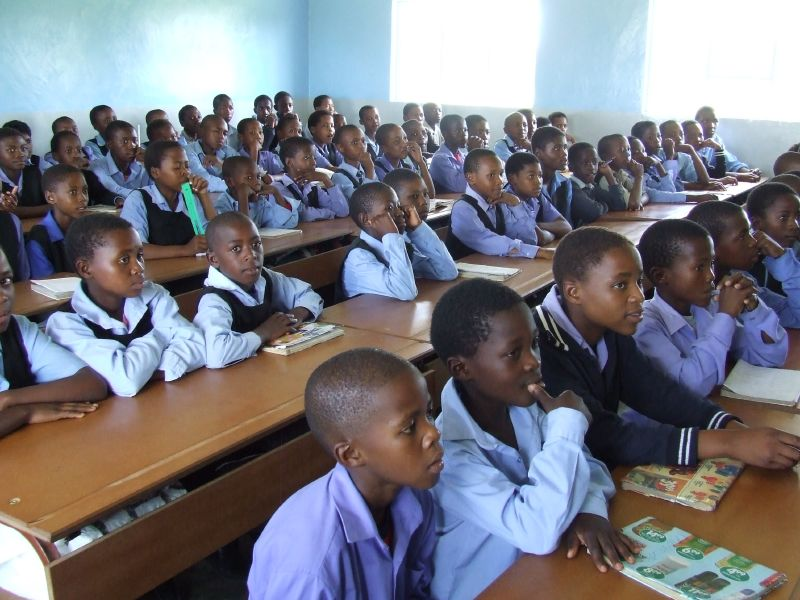 Lesotho classroom Cover source:  Wikimedia