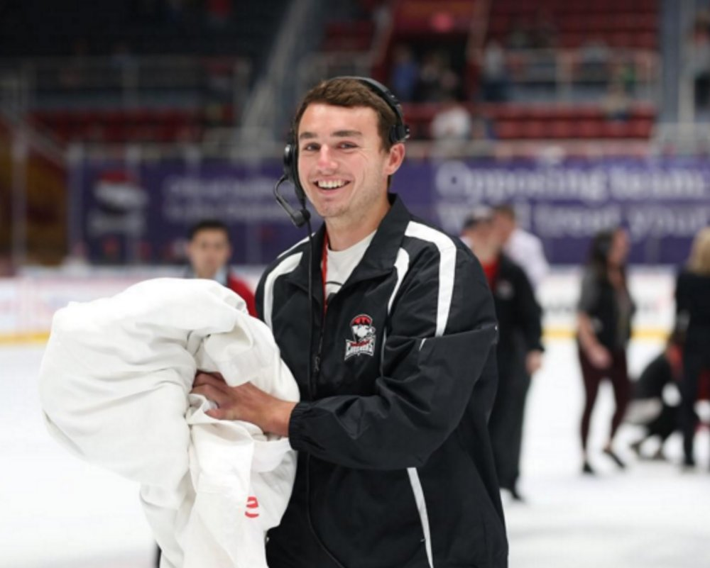 2017 graduate Will Roberson interning for the Charlotte Checkers Credit: Will Roberson