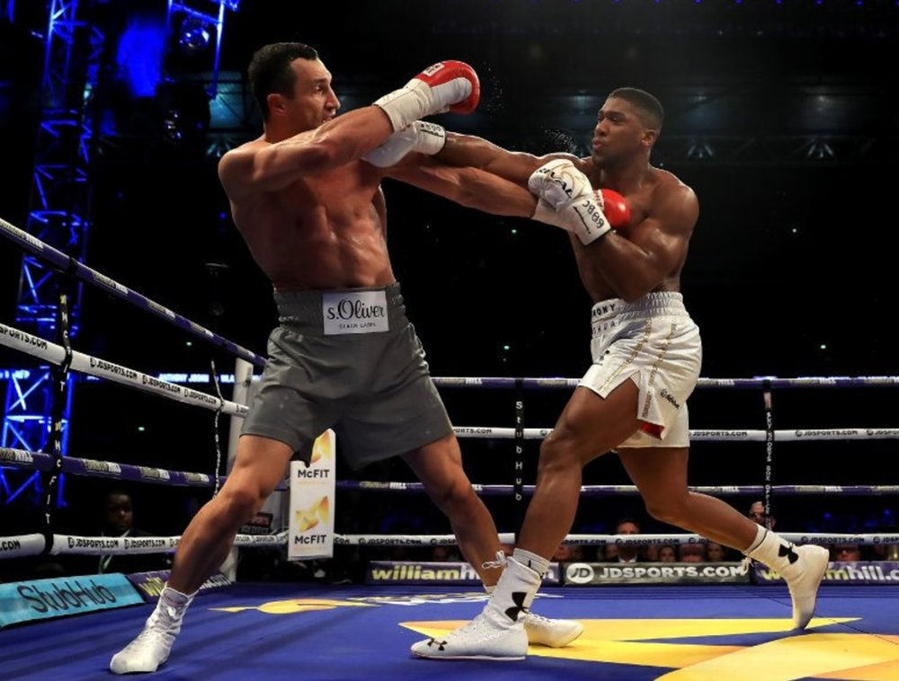 Anthony Joshua won his boxing match against heavyweight champion Wladimir Klitschko on April 29, 2017. Credit: Karl-Ludwig Poggemann/Flickr