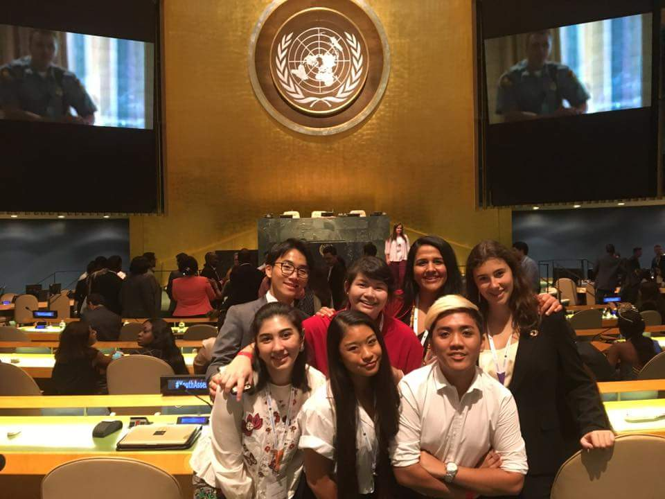 Peer Mentoring Mentees from all over the world at the General Assembly Hall at the UN Headquarters, NYC