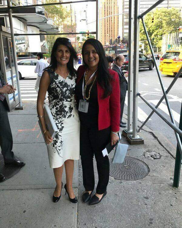 With the US Ambassador to the United Nations, Nikki Haley - UN Headquarters, NYC.