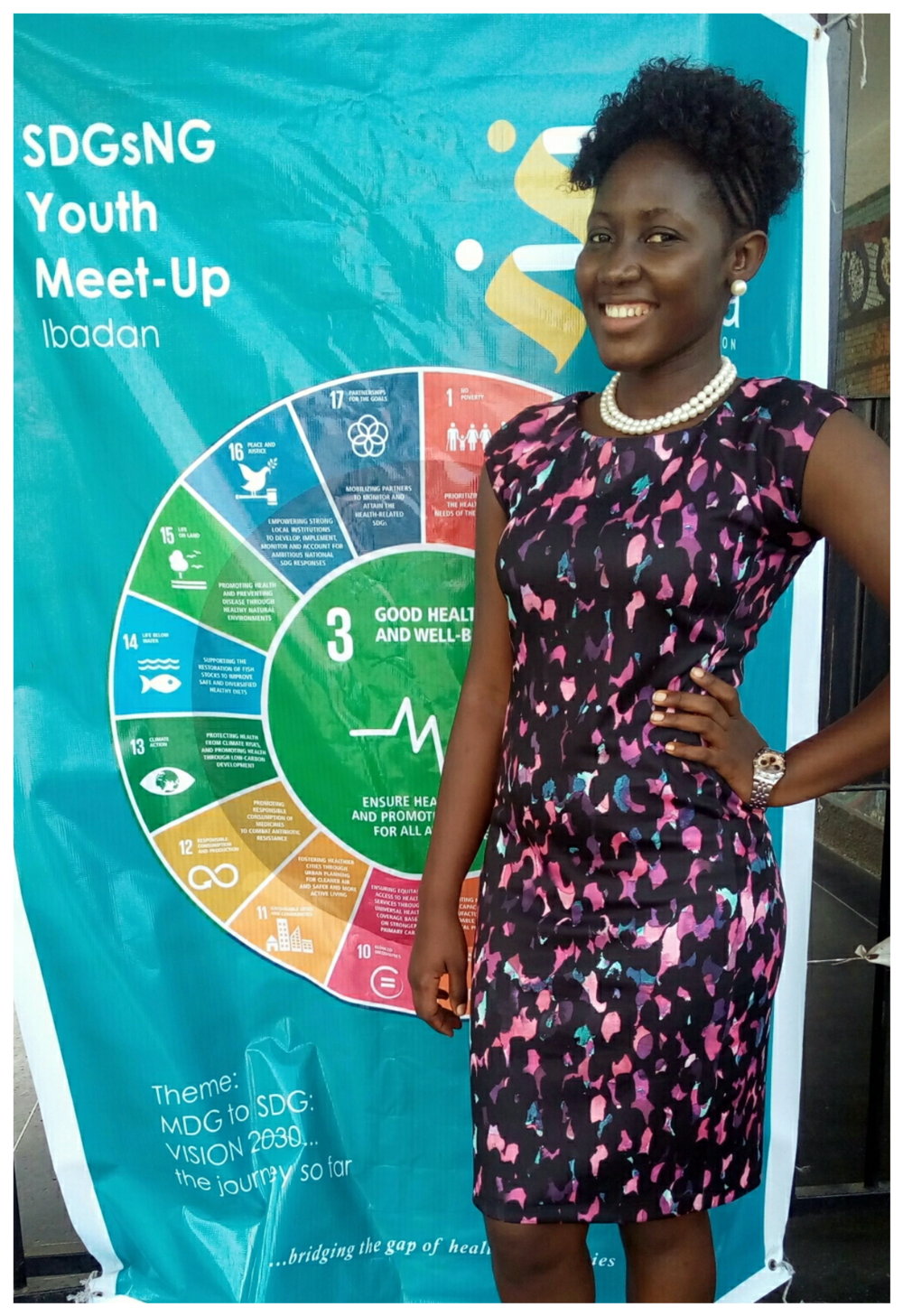 Adeola Raji at SDGsNG Youth Meet-up in Ibadan.