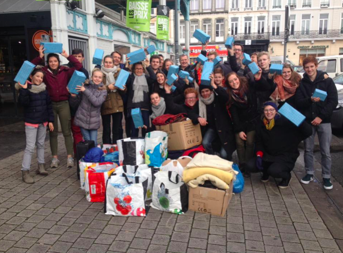 Group of volunteers for Un Cado pour un Charclo in Lille, 24/12/2016