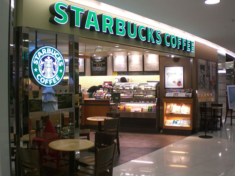 A typical Starbucks branch (Source:  Wikimedia Commons )