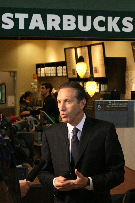 Starbucks CEO Howard Schultz (Source:  Flickr / Richard Eriksson )