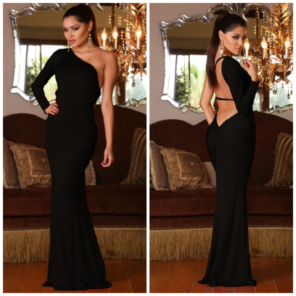 Abyss By Abby, One Shoulder Gown