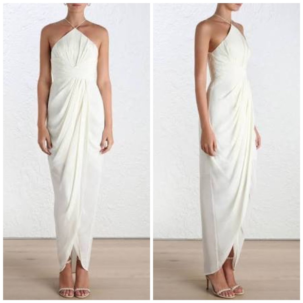 Zimmerman, Silk Tuck Long Dress
