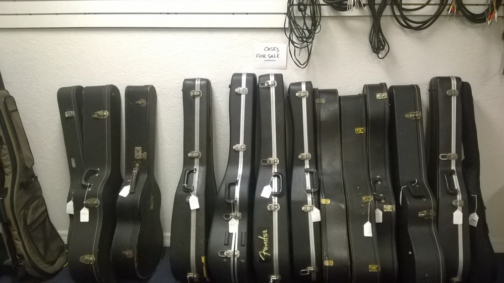 We buy guitar cases and accessories!