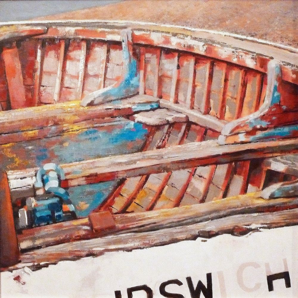 Boat at Aldeburgh    60 x 60 cm oil on canvas  2011  private collection *