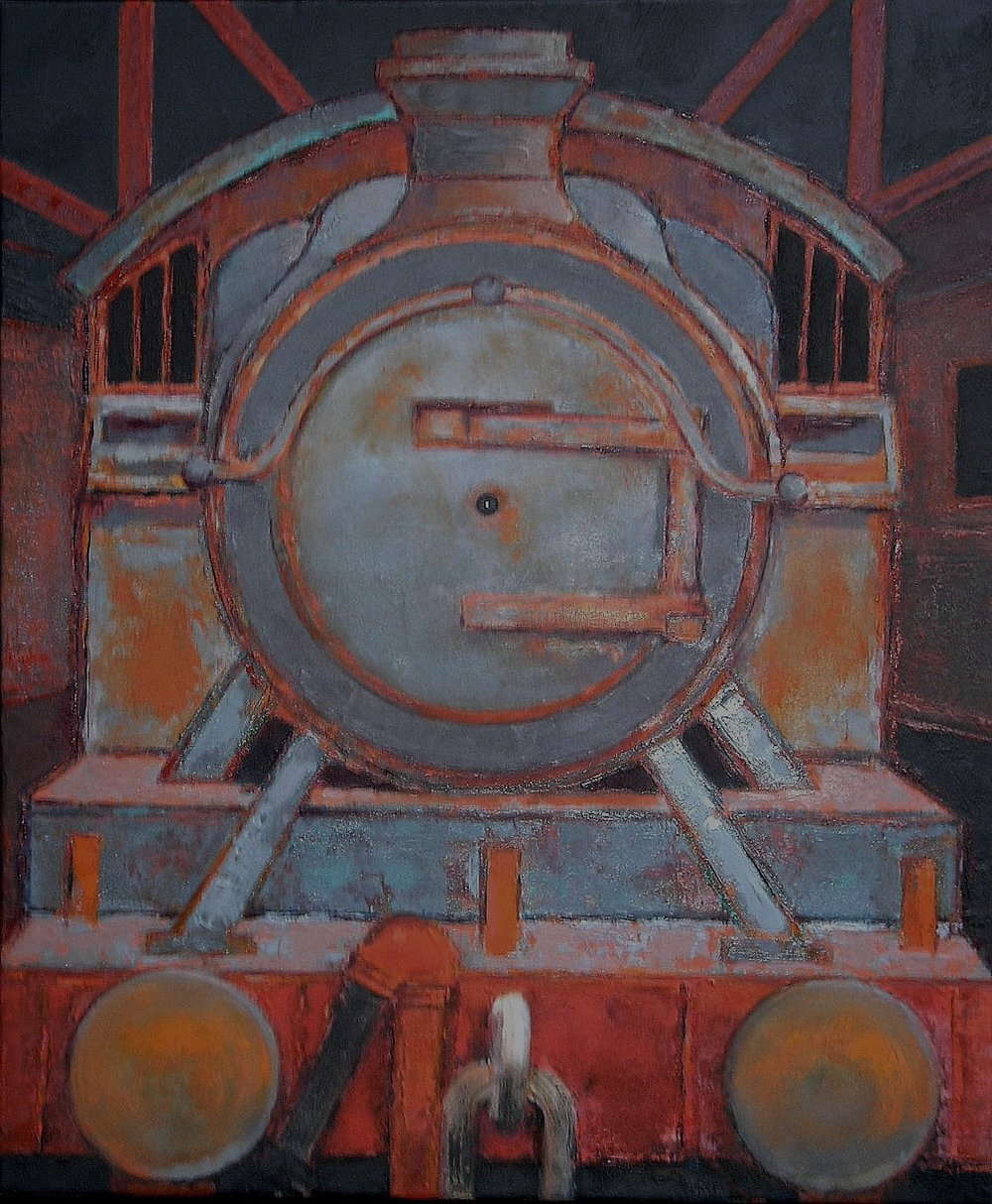 Corrosion IV   64 x 54 cm oil on canvas   Exhibited at RA    Summer exhibition 2010   private collection *