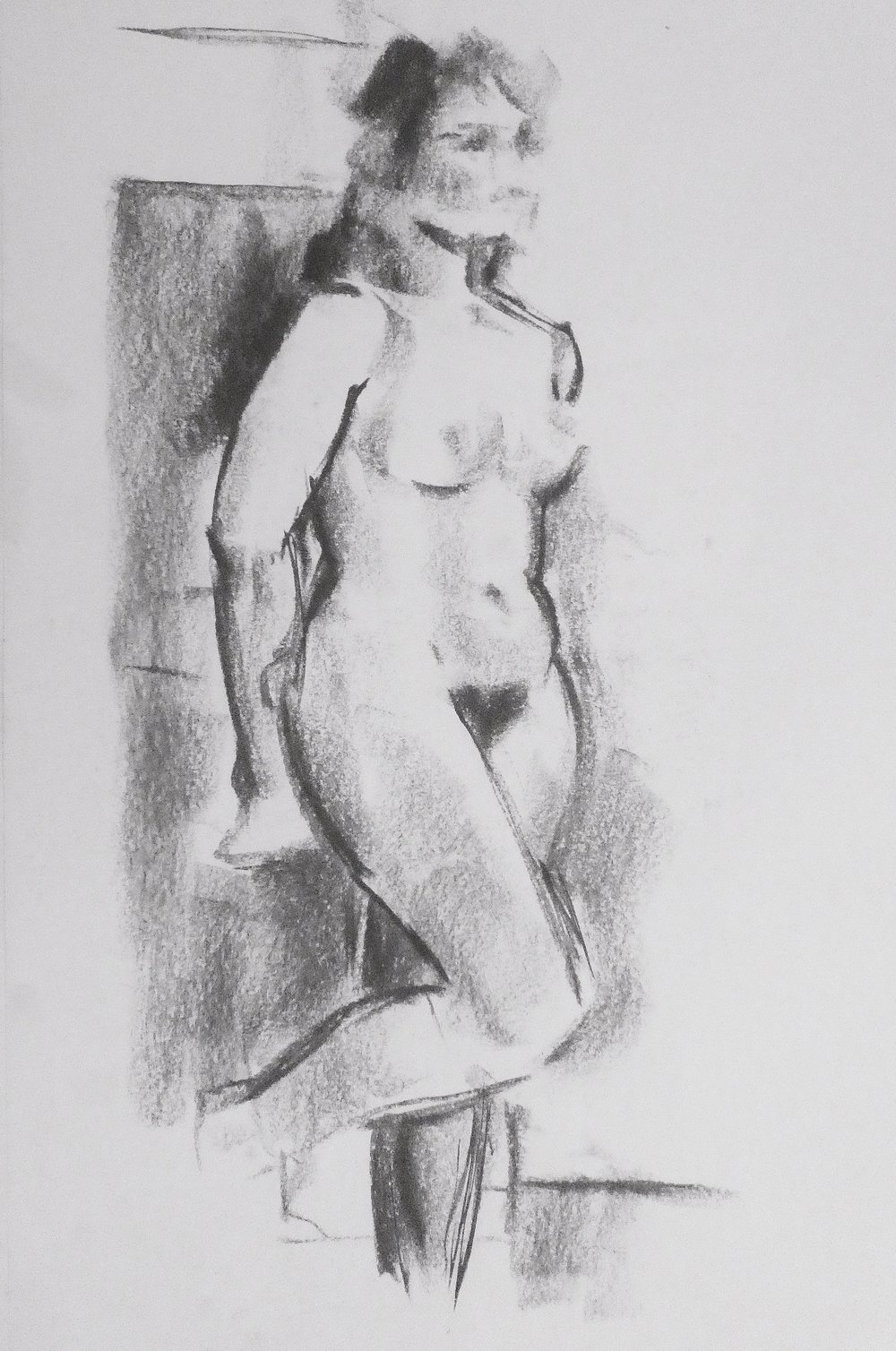 Nude, short pose