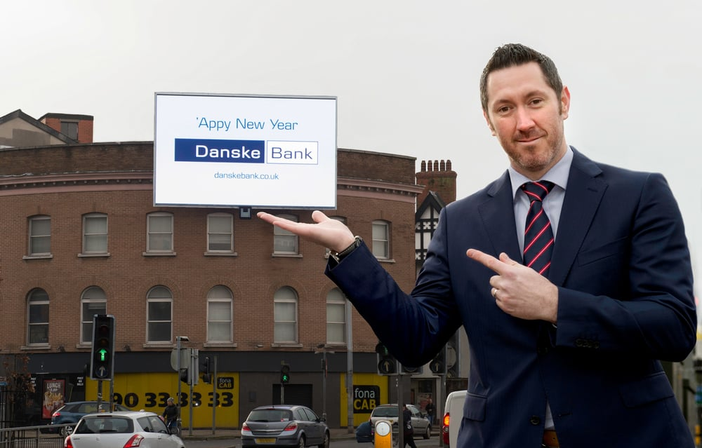 Andrew Fairfowl, Director of Blazin Digital launches huge LED billboard in Belfast City