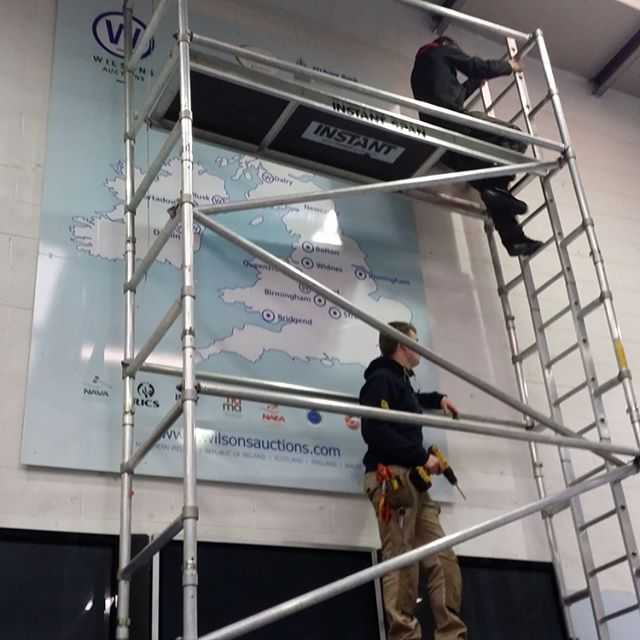 Installing the 3m x 2m LED display at Wilsons Auctions, Mallusk. #blazindigital #standout #wilsonsauctions #wilsonsauctionsmallusk