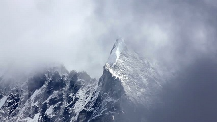 A blizzard brewing in the Himalayas