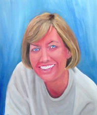 Oil portrait of Martha by  our lifelong friend Tom Elliott