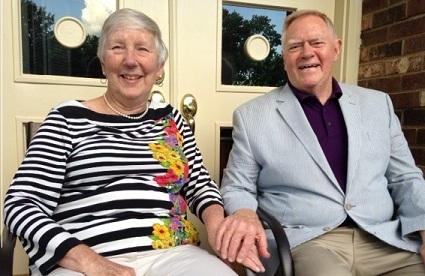 Bob and Kaki this year on their 53rd anniversary, May 30