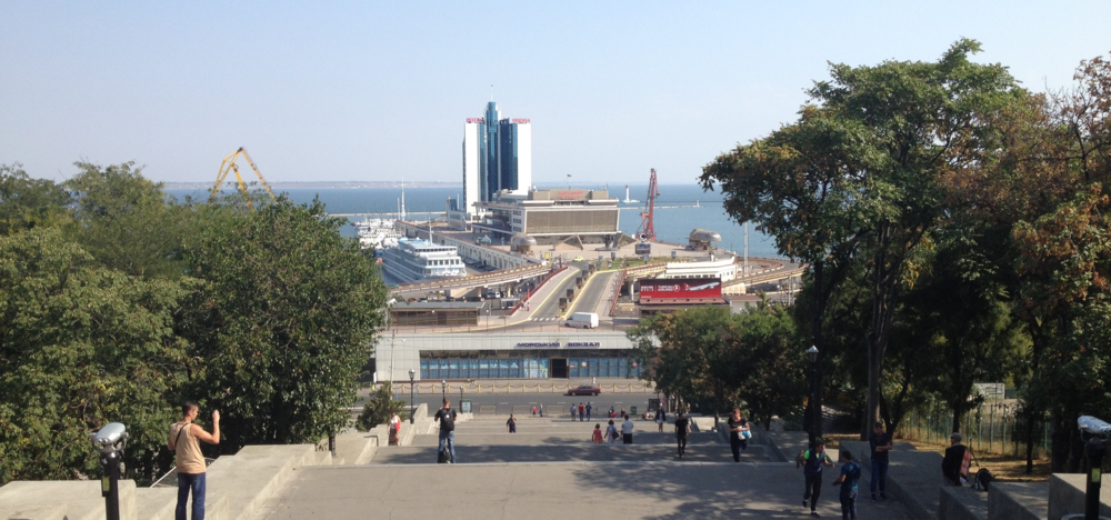 Great weather graced my stay in this great city. The Potemkin Stairs, leading down to the Harbour.
