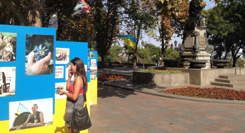 Pictures of soldiers and of the Eastern front, displayed in Sunny Odessa
