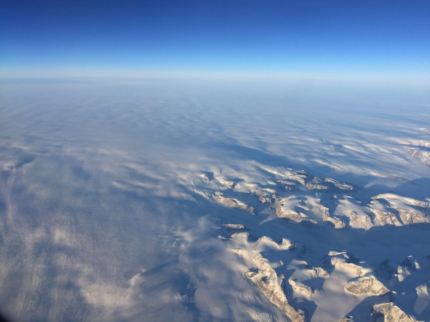 Where mountains and rocks morph into a blanket of snow, South Greenland