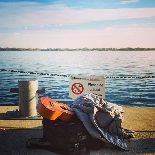 """By the Banks of Ontario Laaaake🎵🎵"" #originalsong #toronto #wanderlust #backpacking #adventure #gregorybackpack #cloudmusicukulele #ben #ukuleleroadtrips"