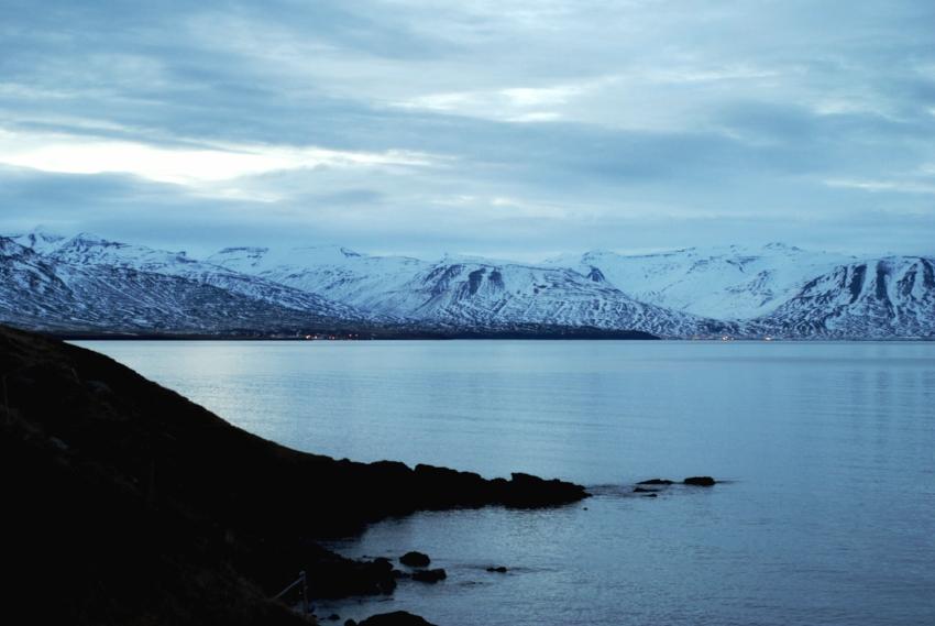 Calmness still spread over the Eyjafjörður