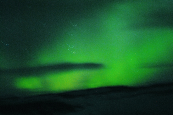 "My Instagram post with the caption  ""OMG Northern Lights so so green #beautiful"""