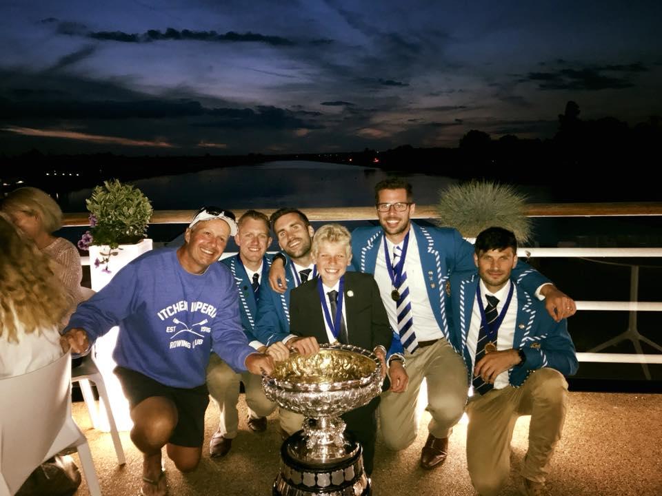 Men's Senior Fours Champions with the Bideford Bowl