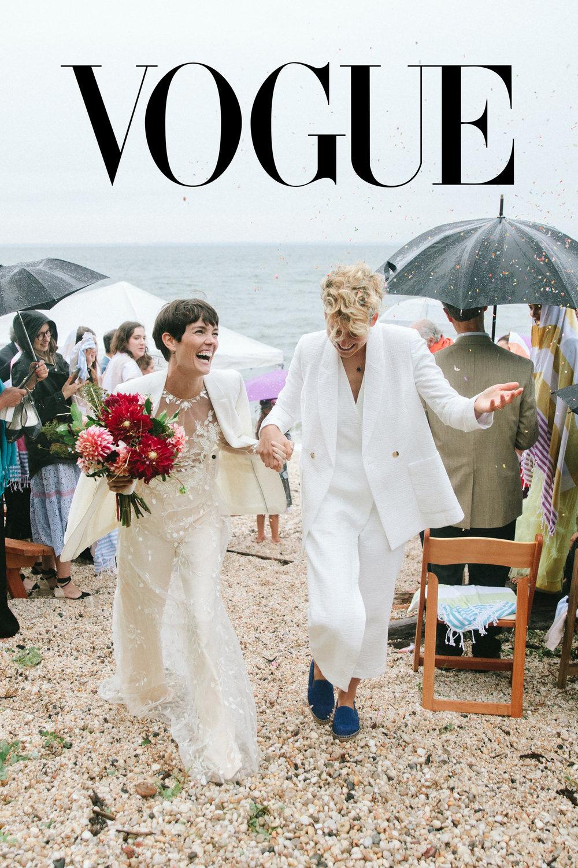 Vogue - Celia Rowlson Hall, Mia Lidofsky Wedding - Beach Wedding