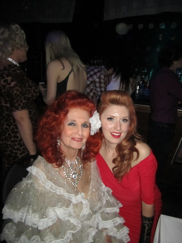 Angela La Muse, La Muse, Miss La Muse, Burlesque, Burlesque Dancer, La Muse Burlesque, Pin Up, Miami Burlesque, Retro Hair, Pin Up Hair, Angela La Muse with Burlesque Legend Tempest Storm. At Girlesque 13 in Toronto.