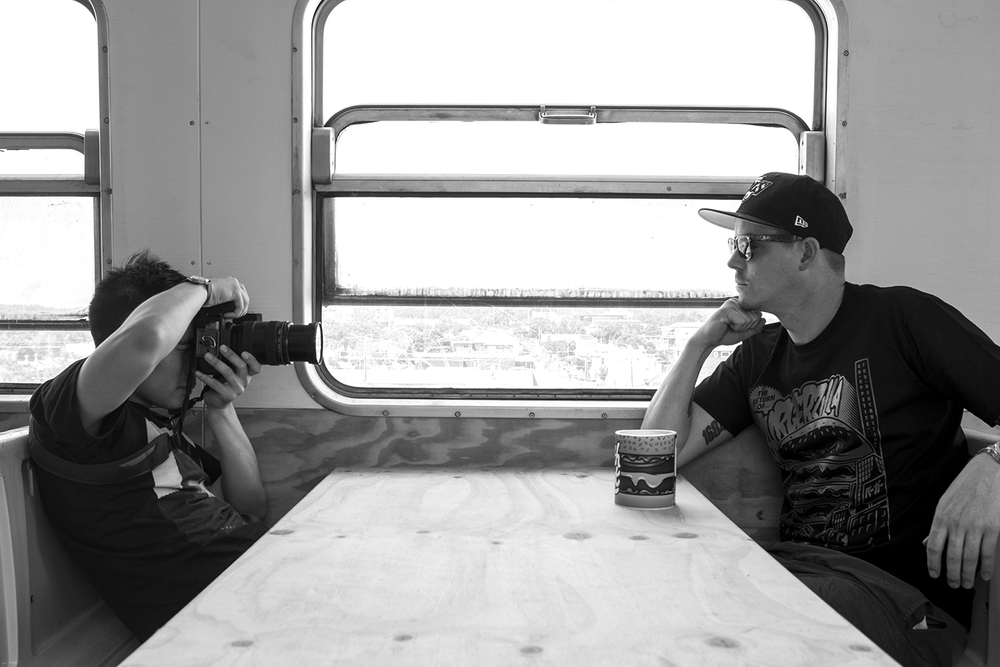 Shooting Jimmy's Burgers in the soon-to-be Easeys venue.