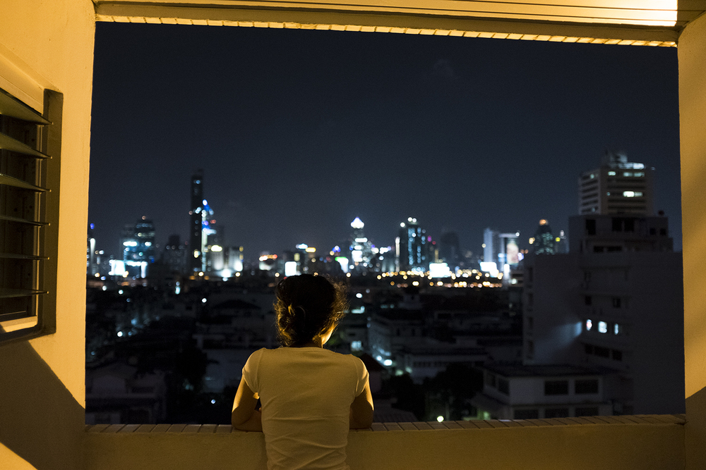 Absorbing the view on our last night in Thailand.
