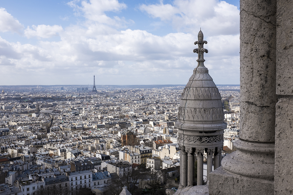 The view of Paris from the top of Sacré-Coeur.