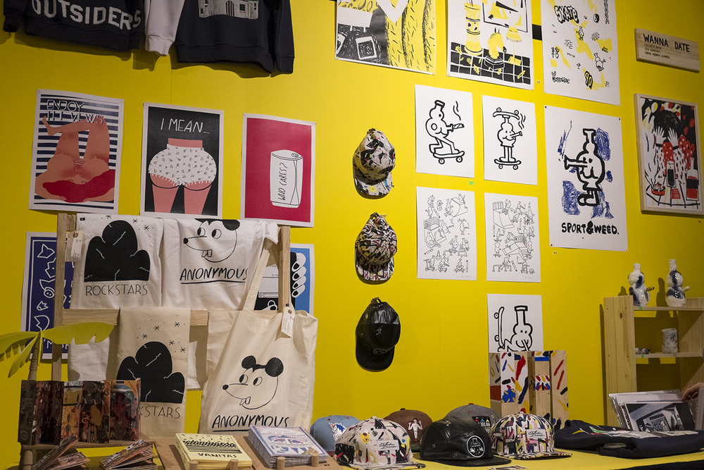 Prints and wears from designers, including Outsiders Division.