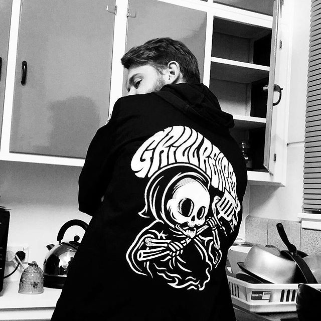 Bad boy @ruskidd in his Grill Reaper Jacket 👉🔥✨ #withthelot