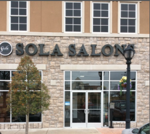 We are located inside Sola Salon