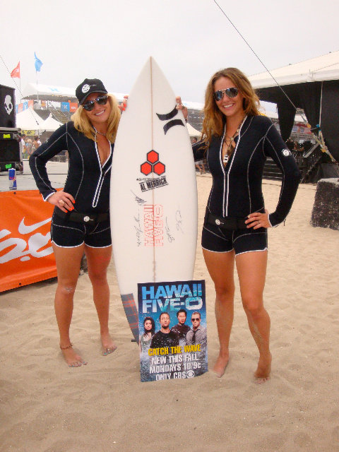 Chelsea and Victoria and the US open of Surfing