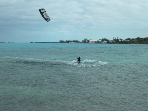Kiteboarding in our Women's Shorty Wetsuit