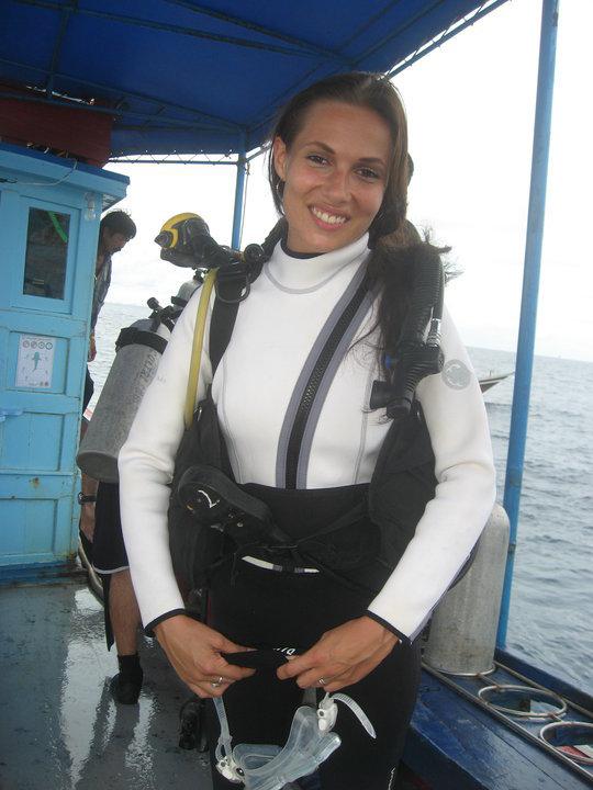 Scuba diving sexy women shall