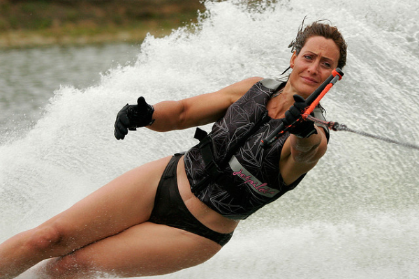 Women's Slalom water skiing