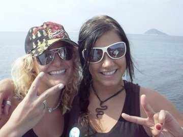 Chelsea Berg and Anna in Thailand