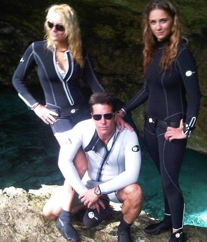 Fernando Carrillo Wearing the Swish Wetsuit Jacket