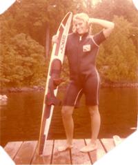 old school womens water skiing