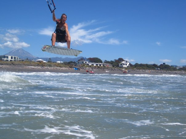 Rachel Kiteboarding