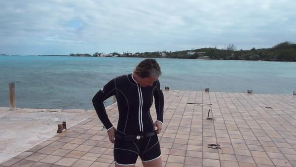 Beautiful Rachel in Swish Ladies Shorty Wetsuit