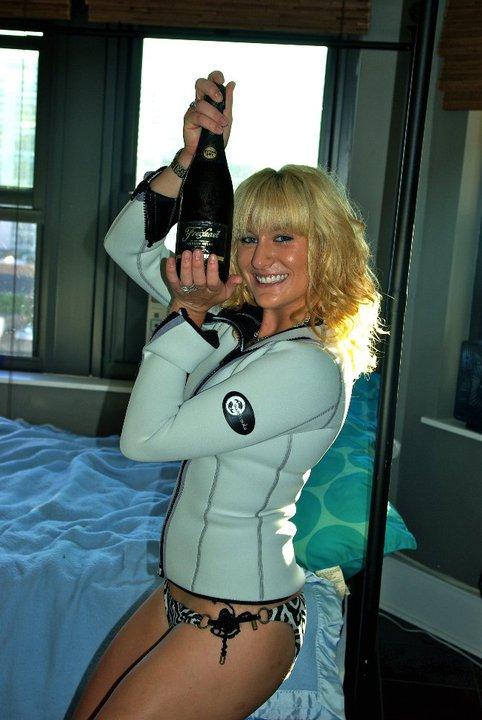 Chelsea Berg in her Women's Wetsuit