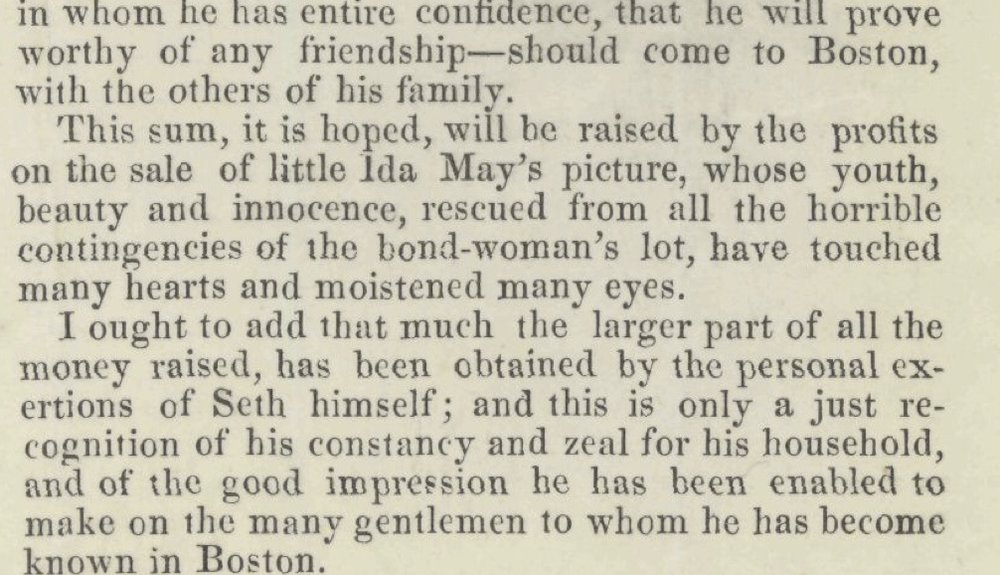 """From """"A History of Ida May"""" Broadsheet, written by John Albion Andrew, 1855."""
