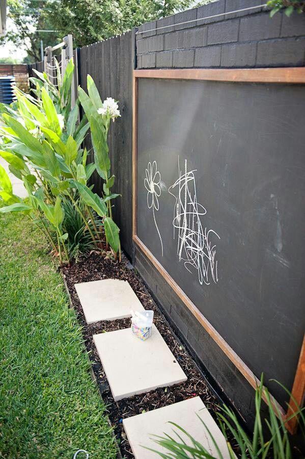 Children's outdoor blackboard